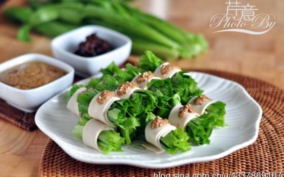麻汁油麦菜