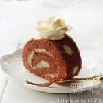 卡仕达可可蛋糕卷