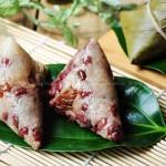红豆蜜枣粽子(四角粽子的包法)