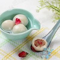玫瑰蜜白豆沙湯圓