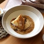 红糖麻酱白米粽(四角形粽子)