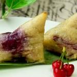玫瑰紫薯粽