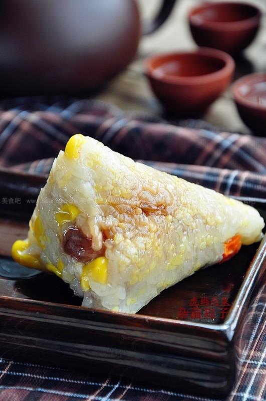 杂蔬粽子(经典四角粽子包法图解)的做法步骤