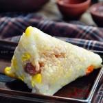 杂蔬粽子(经典四角粽子包法图解)