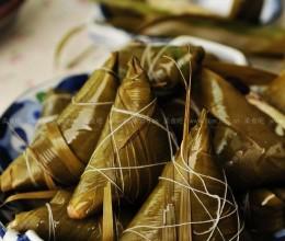 白米红枣三角粽