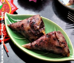 黑米红枣粽子