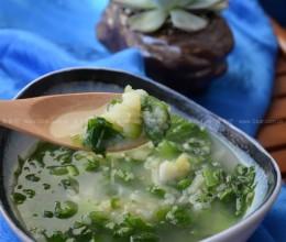 青菜土豆泥汤