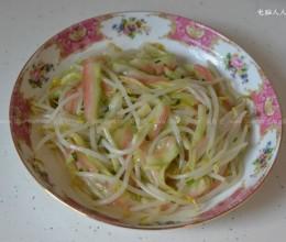 西瓜皮凉拌绿豆芽