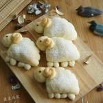 小羊紅豆沙面包