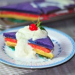 松软彩色蛋糕