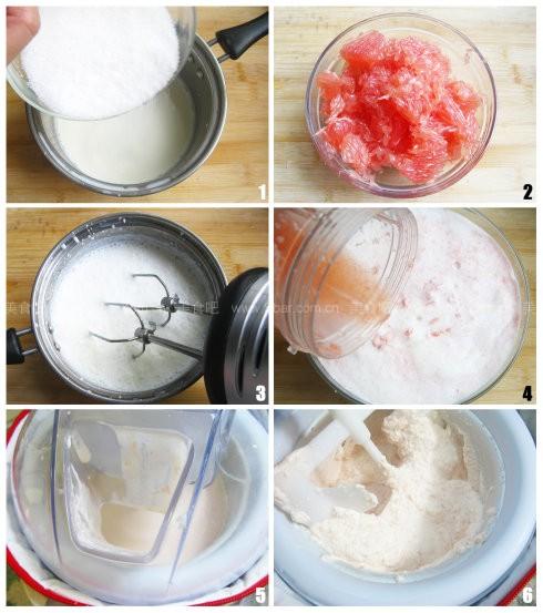 葡萄柚冰淇淋及甜筒