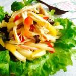 苹果鸡丝沙拉(减肥的低脂沙拉)