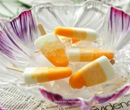 渐变芒果酸奶棒冰