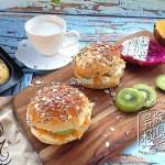 黑燕麦水果汉堡(高纤低脂、饱腹纤体)