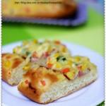 培根奶酪时蔬面包