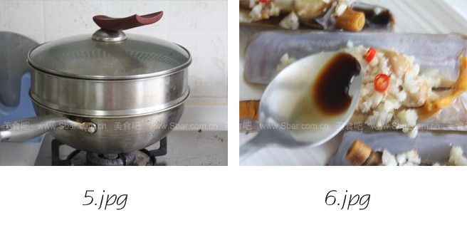 姜蒜蒸蛏子