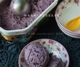 自制蓝莓果酱冰淇淋