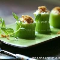 虾米火腿丝瓜酿