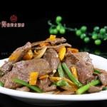 黄贡椒炒猪肝