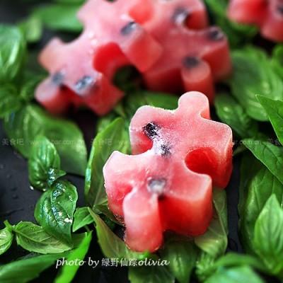 蓝莓西瓜冰