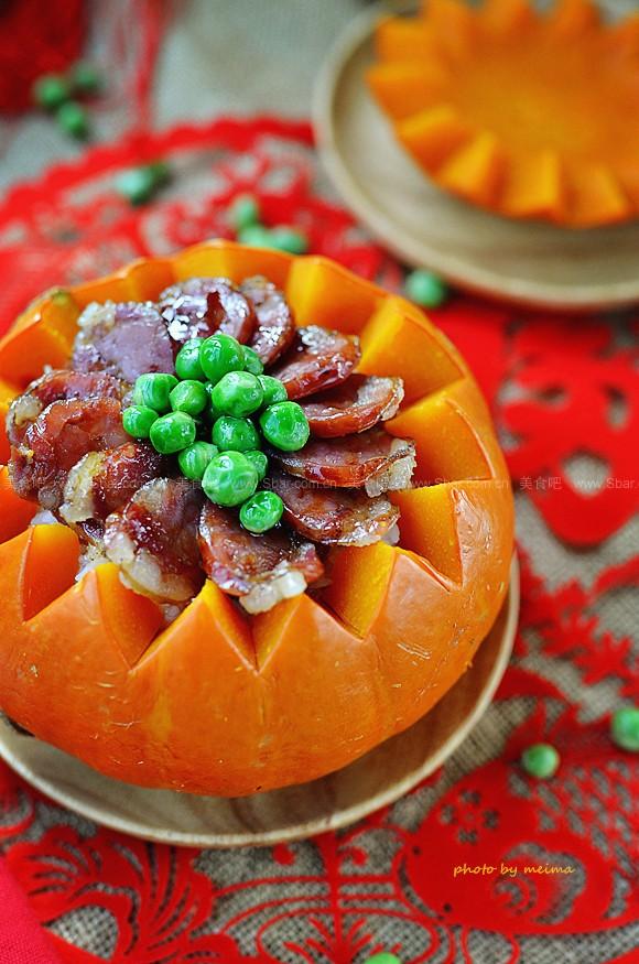 金瓜蜡肠饭