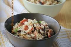 腊味红米饭
