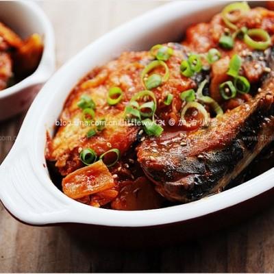辣白菜烧鲅鱼