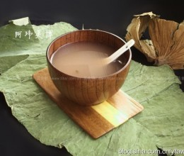荷叶绿豆粥