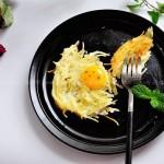 鸟巢蛋(早餐食谱)