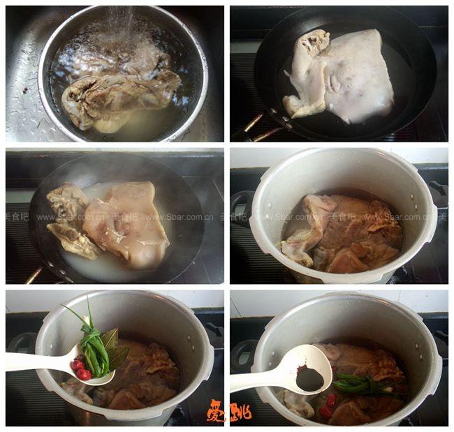 卤咸猪头肉