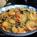 白虾炒粉丝