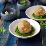 菠菜蒸肉丸(清蒸菜)