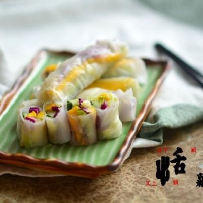 鲜蔬米纸卷