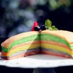 榴莲彩虹千层蛋糕