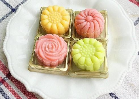 榴莲绿豆蓉冰皮月饼(中秋月饼)