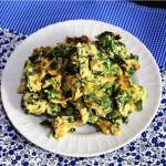 芹菜叶鸡蛋饼