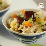 腊肉土豆焖饭(电饭锅食谱)
