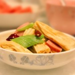 火腿腐竹炒丝瓜