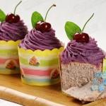 紫薯戚风杯子蛋糕