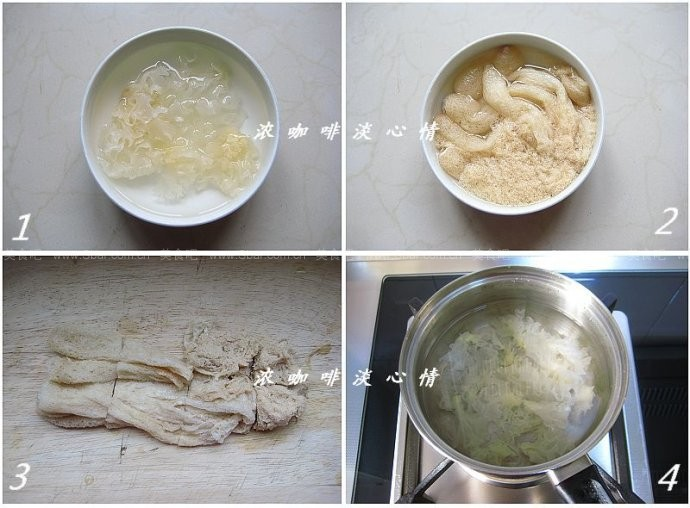 竹荪银耳甜汤