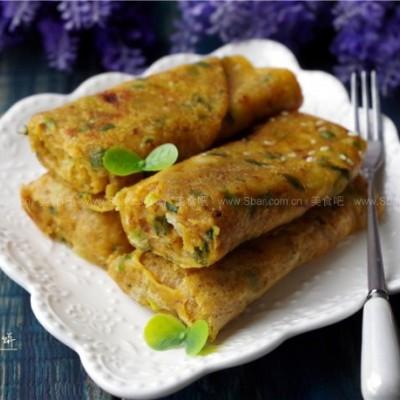 葱香肉松饼