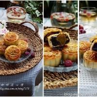 豆沙蛋黄月饼&紫薯月饼