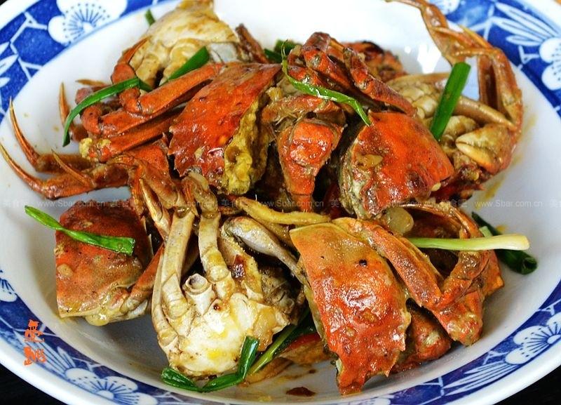 葱姜炒小毛蟹
