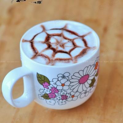 超简易拉花咖啡