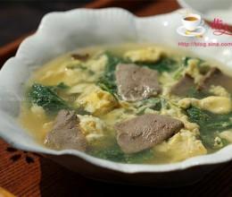 南瓜叶猪肝蛋汤
