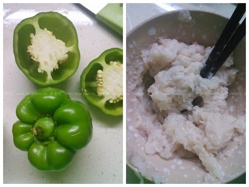 鱼肉酿青椒