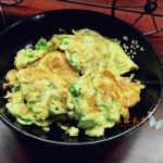 秋葵煎鸡蛋