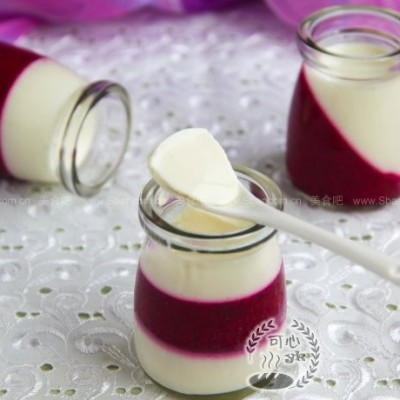 红心火龙果酸奶冻