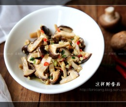 凉拌鲜香菇