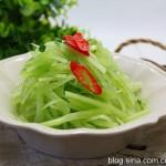 葱油莴笋丝(节后清肠)